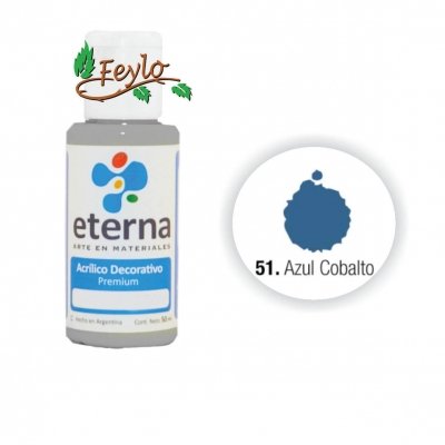 Eterna Acril.dec. Azul Cobalto      50ml