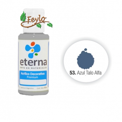 Eterna Acril.dec. Azul Talo Alfa    50ml