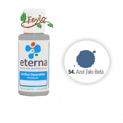 Eterna Acril.dec. Azul Talo Beta    50ml