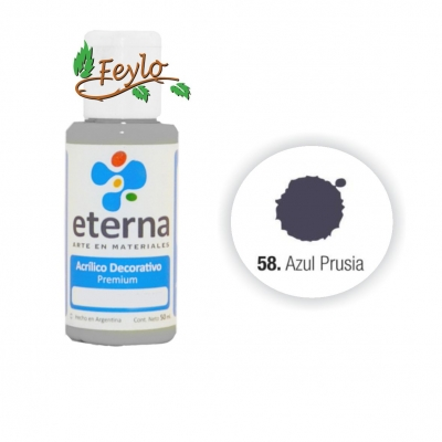 Eterna Acril.dec Azul De Prusia     50ml
