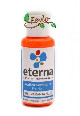 Eterna Acril.dec. Fluo Naranja      50ml