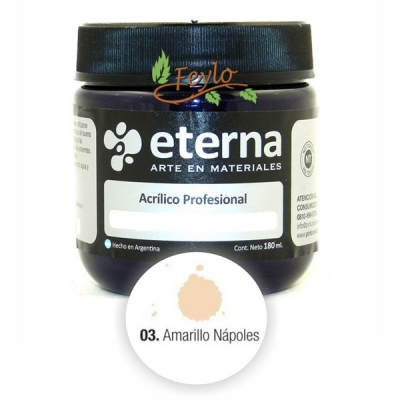 Eterna Acril.est.amarillo Napoles  180ml