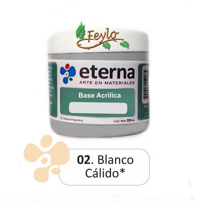 Base Acrilica  Eterna Blanco Calido       200ml.