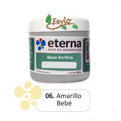 Base Acrilica  Eterna  Amarillo Bebe       200ml.