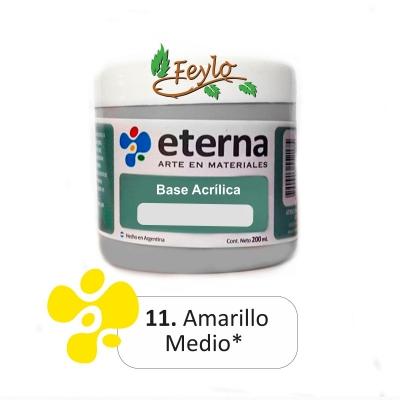 Base Acrilica  Eterna Amarillo Medio      200ml.