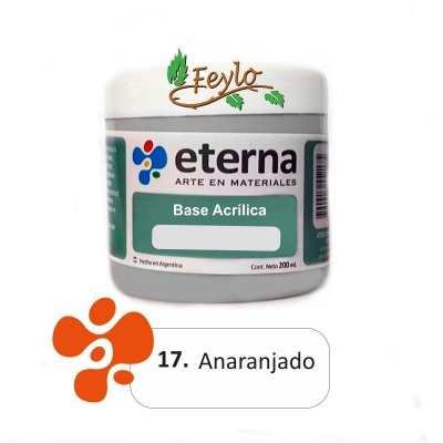 Base Acrilica  Eterna Anaranjado          200ml.