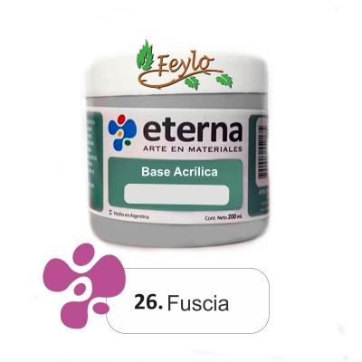 Base Acrilica  Eterna Fucsia              200ml.