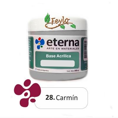 Base Acrilica  Eterna Carmin              200ml.