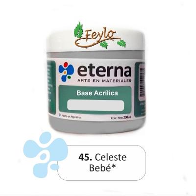 Base Acrilica  Eterna Celeste Bebe        200ml.