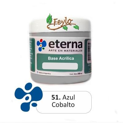 Base Acrilica  Eterna Azul Cobalto        200ml.