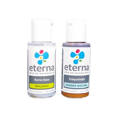 Eterna Set Craquelador Color 2 X 50 Ml (colores Varios)