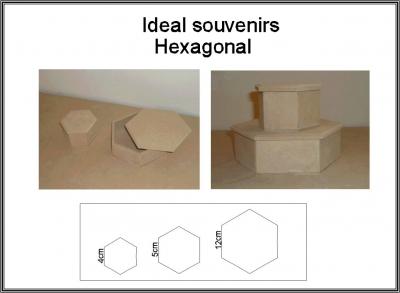 Caja Hexagonal 7x7x4