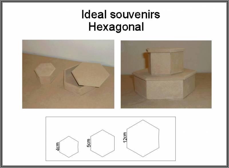 Caja Hexagonal 10x10x6