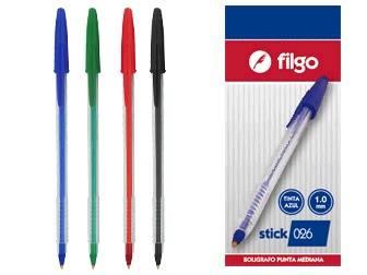 Boligrafo Stick Blister X 4