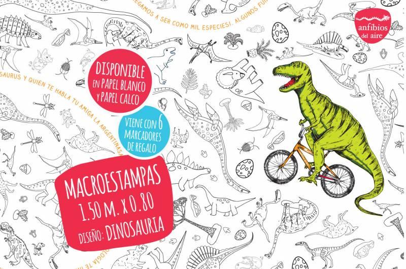 Macroestampa 1.50 X 0.80m + 6 Marcadores Dinosauria