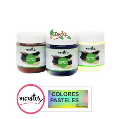 Patina Monitor Cera X 65 Cc Colores Pasteles