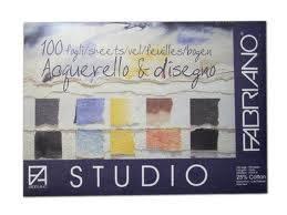 Block Pittura Fabriano 400 Grs 35 X 50 Cm 10 Hojas