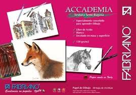 Block Academia Fabriano 120grs. 32.5x50 Semi Rugoso 20 Hojas