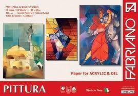 Block Pittura Fabriano 400 Grs  35x50 Cm 10 Hojas