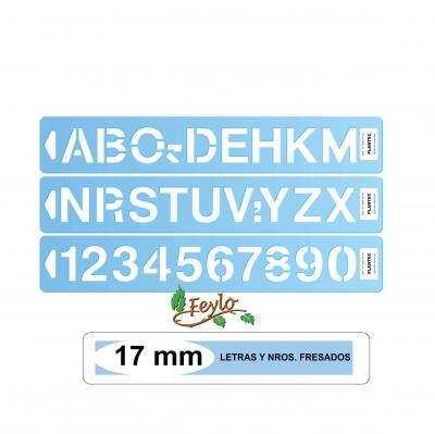 Letras Y Nros. Fresados Plantec Altura 17 Mm