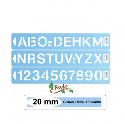 Letras Y Nros. Fresados Plantec Altura 20 Mm