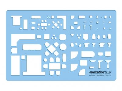 Plantillas Plantec Muebles Y Sanitarios 1:100/1:50