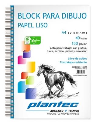 Block Cuaderno Anillado Lateral A4 150 Grs X 40 Hojas