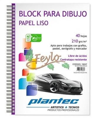 Block / Cuaderno Anillado Lateral 210 Grs A5 X 40 Hojas