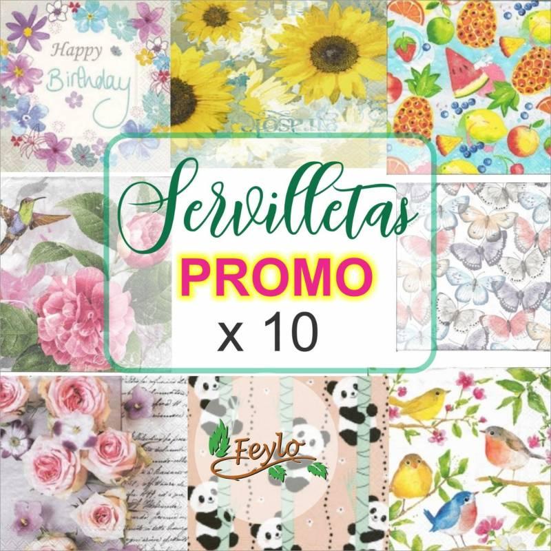 Promo Servilletas Feylo X 10