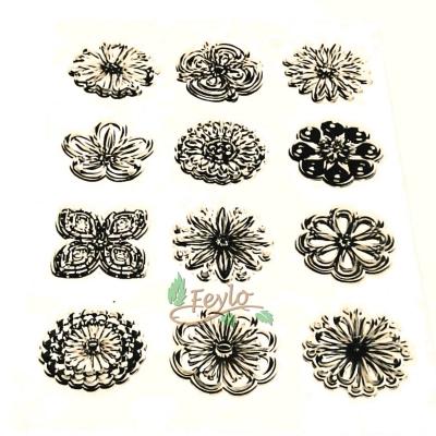 Sellos De Silicona Flores X 12