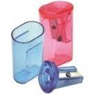 Afilalapices  Plastico C/deposito Rectangular