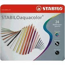 Lapices Aquacolor Lata X 24 Largos