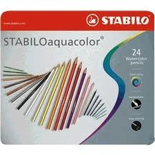 Lapices Aquacolor Lata X 24 Largos