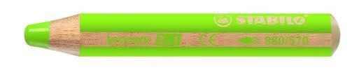 Lapices Woody 3 En 1 Verde Claro 570