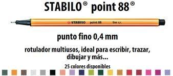 Microfibra Point 88 Carmin 50