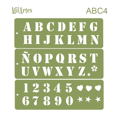 Stencil Abc4 (3cm)