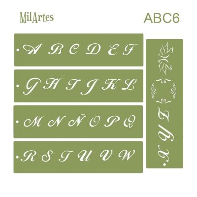 Stencil Abc 6 (2.5cm)
