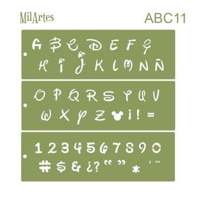 Stencil Abc 11 (3 Cm)