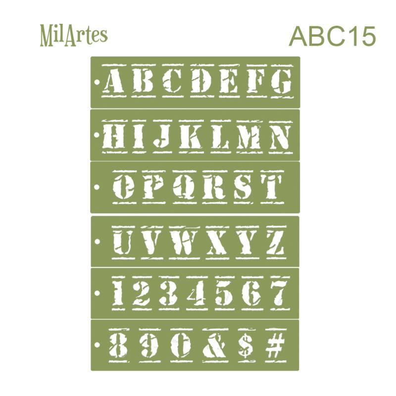 Stencil Abc 15 (7cm)