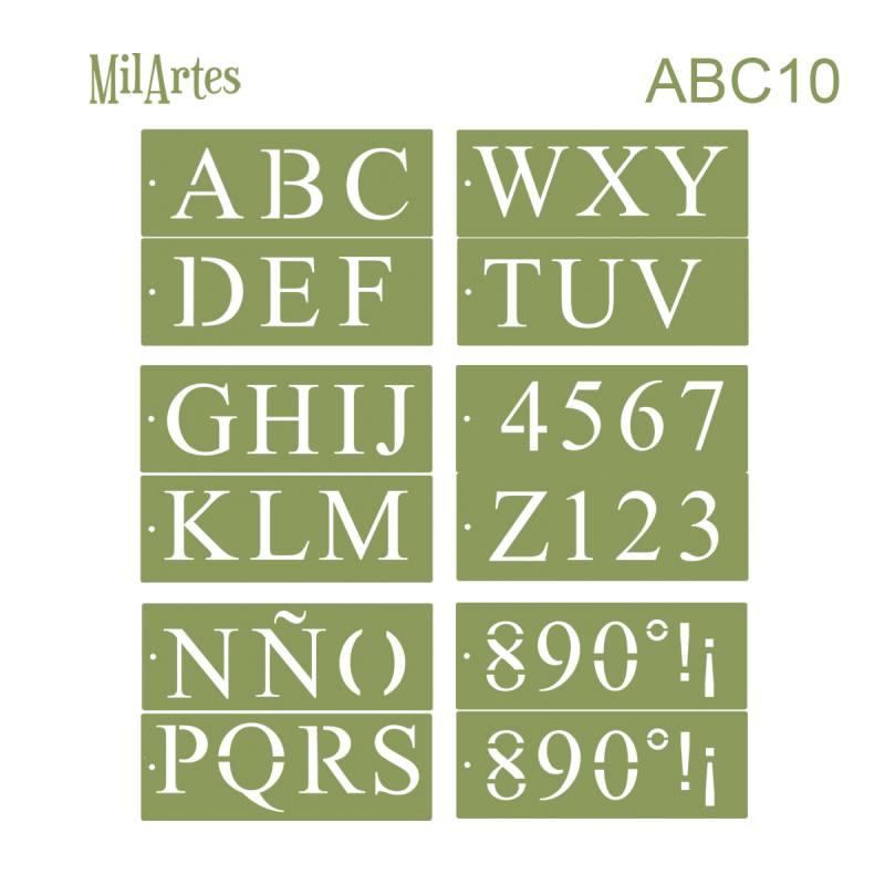 Stencil Abc 10 (10 Cm)
