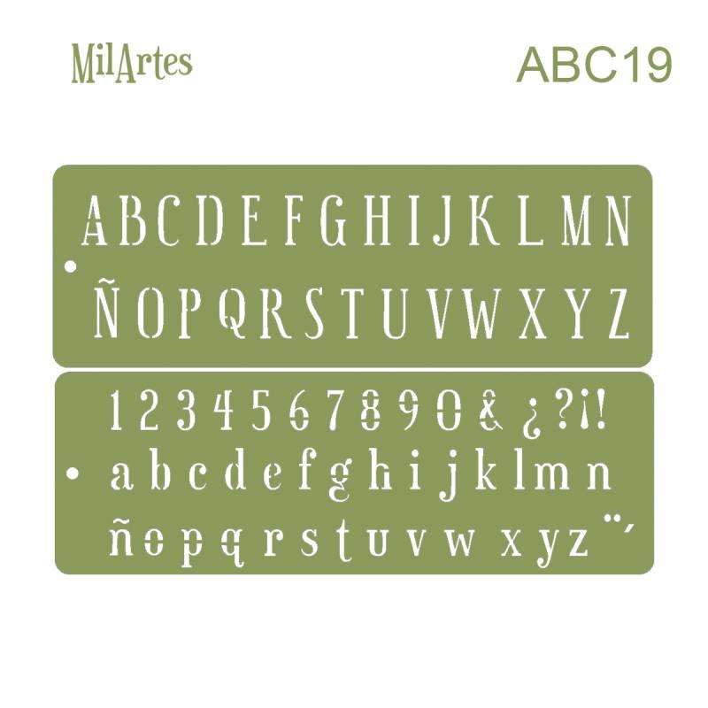 Stencil Abc 19 (2 Cm)