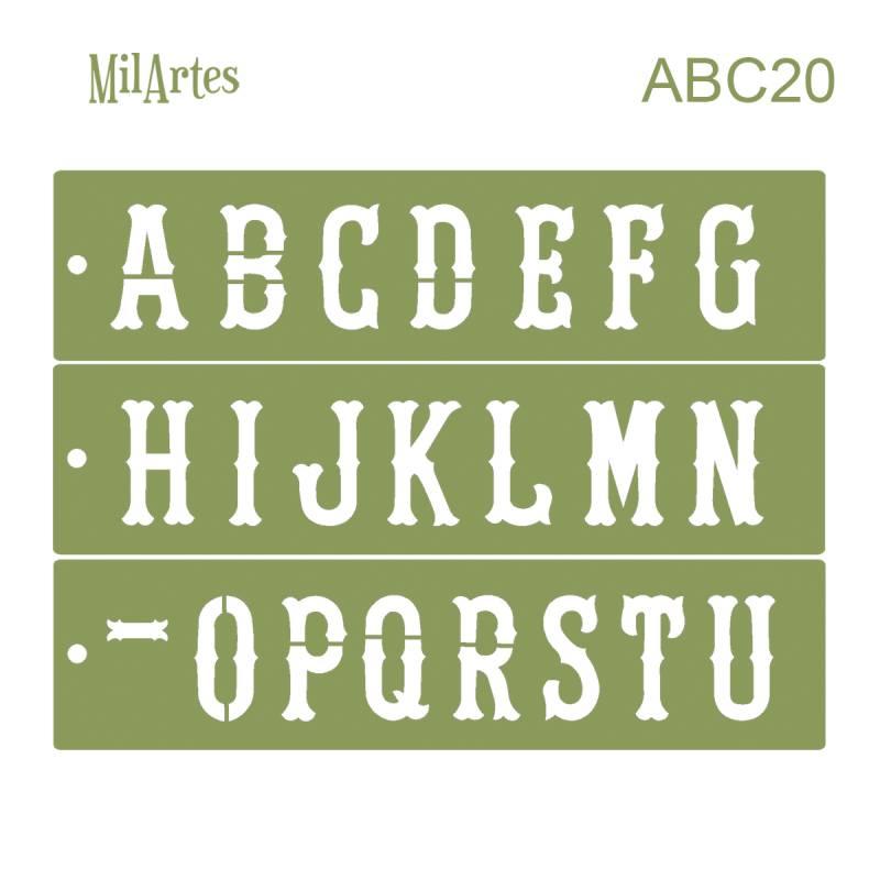 Stencil Abc 20 (6.5 Cm)