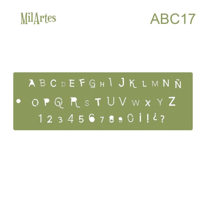 Stencil Abc 17 (1 Cm)
