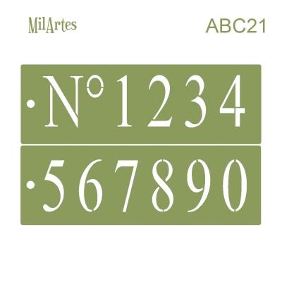 Stencil Abc 21 (nº5 Cm)