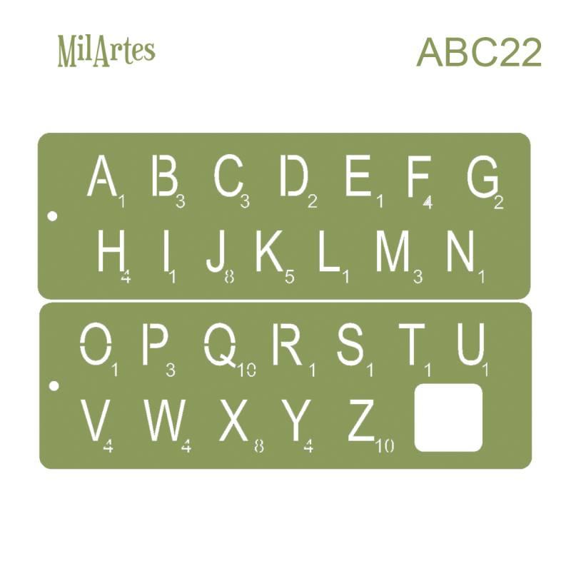 Stencil Abc 22 (2.5cm)