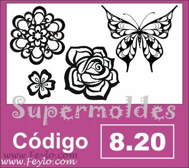 Aplique 4u Flores/mariposa