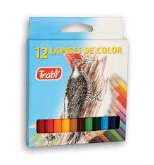 Lapices Trabi Corto Pinturitas X 12