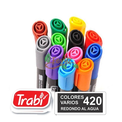 Marcadores Al Agua Marker Redondo 420