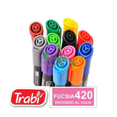 Marcadores Al Agua Marker Redondo 420 Fucsia