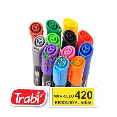 Marcadores Al Agua Marker Redondo 420 Amarillo